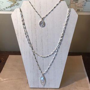 Lia Sophia Aurelis silver layered necklace